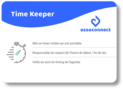 réunion association time keeper assoconnect