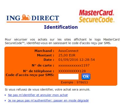paiement en ligne securite association assoconnect
