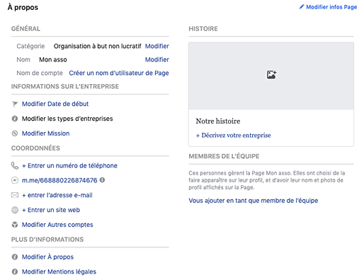 assoconnect association a propos facebook