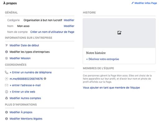 assoconnect association a propos facebook