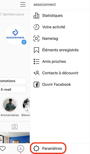 assoconnect association instagram statistiques vues